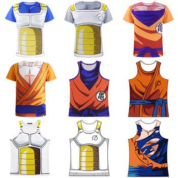 Men 3D Dragon Ball Z T Shirt Vegeta Goku Euro Size M-2XL