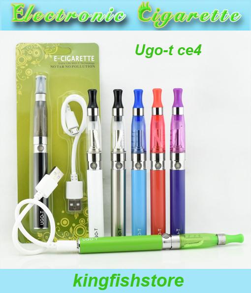 100pcs/lot wholesale Electronic Cigarette starter kits Ugo t ce4 blister kits USB Passthrough ugo t battery ce4 atomizer kits <br><br>Aliexpress
