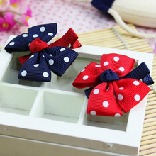 6 Pcs/lot Baby Hairbow Hairpins Boutique Ribbon Hair bows Girl's Hairclips Children Hair Accessories(China (Mainland))