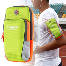 FLOVEME Fashion Men Women Running Arm Band Bag Pouch For iPhone 7 7 Plus 6 6S Plus 5S SE Zipper Multi-Layer Sport GYM Cover Case(China (Mainland))