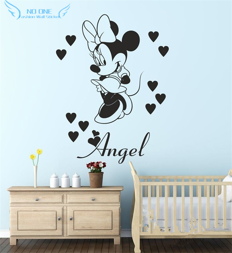 Mickey mouse vinyl wall stickers home decor for kids for Mickey mouse home decorations