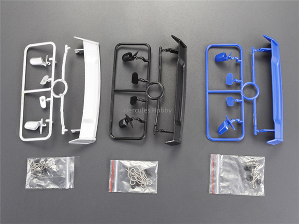 1/10 RC Drift Racing Car Parts Accessories Plastic Black Blue Silver Spoiler Rear Wing 3 colors together(China (Mainland))