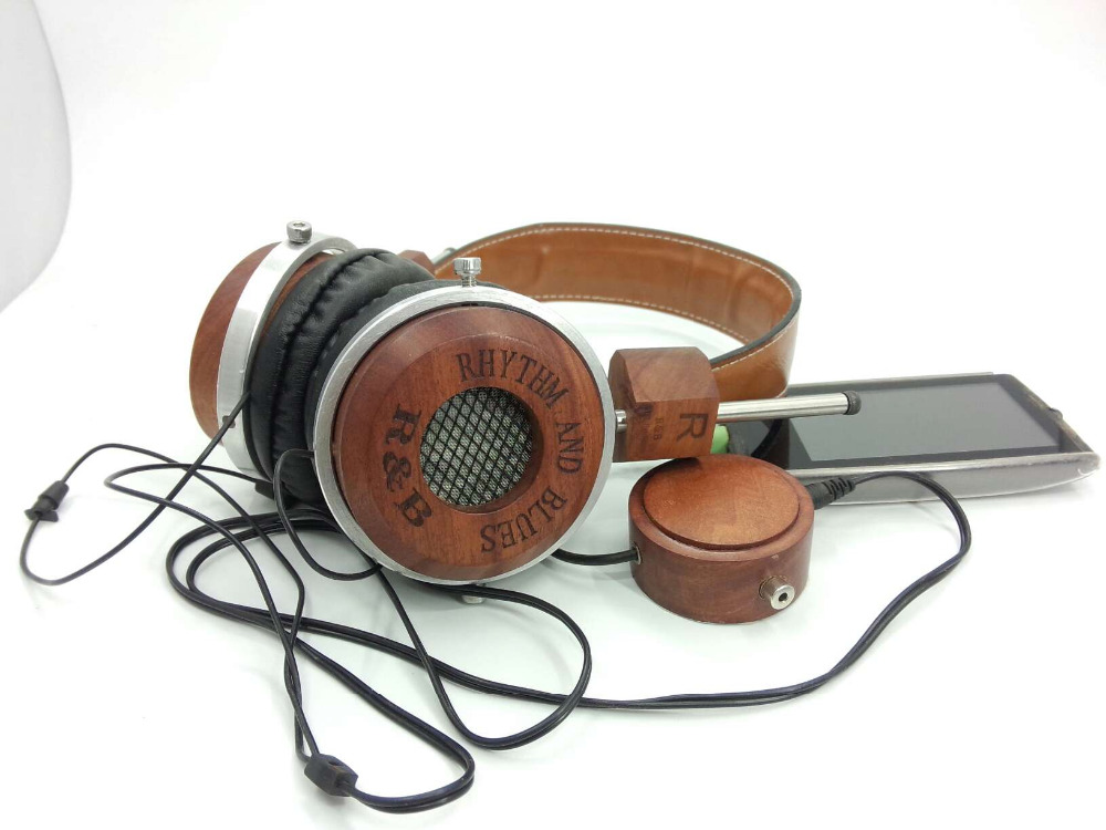 Redwood wood high-fidelity music headphone headset rockstar<br>