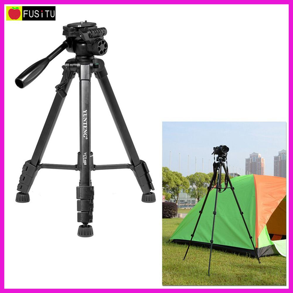 YUNTENG VCT-668 Professional Video Tripod with Double Support 360-degree Panoramic Pan Head for DSLR Camera Camcorder DV(China (Mainland))