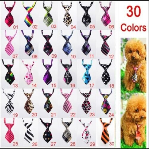 Free Shipping 30 Colors New Adjustable Pet dog cat die pet necklace collar bow tie dog accessories products(China (Mainland))