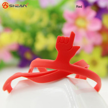 1pcs Learning Stationery Unique Creative Silicone Finger Pointing Bookmark Elasticity Book Mark Office Supply(China (Mainland))