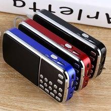 2015 New L - 088 Portable Digital Stereo Mini FM Radio Speaker Music Player with TF Card USB AUX Input Sound Box Black Red Blue(China (Mainland))