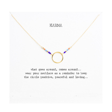Hot Sale Karma Multi-color Seed Bead Necklace Gold Dipped Pendant Necklace Clavicle Chain Statement Necklace Women JeweleryT0312(China (Mainland))