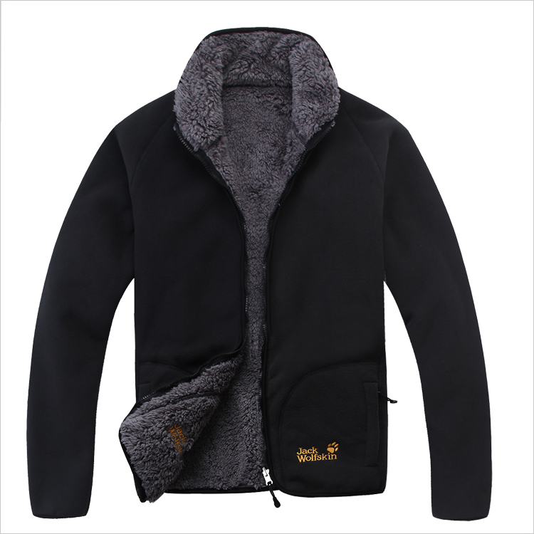 Z520 male thickening autumn winter thermal outdoor Fleece coat zipper-up windproof jacket liner Plus size M-XXXL - xiaopangzi store