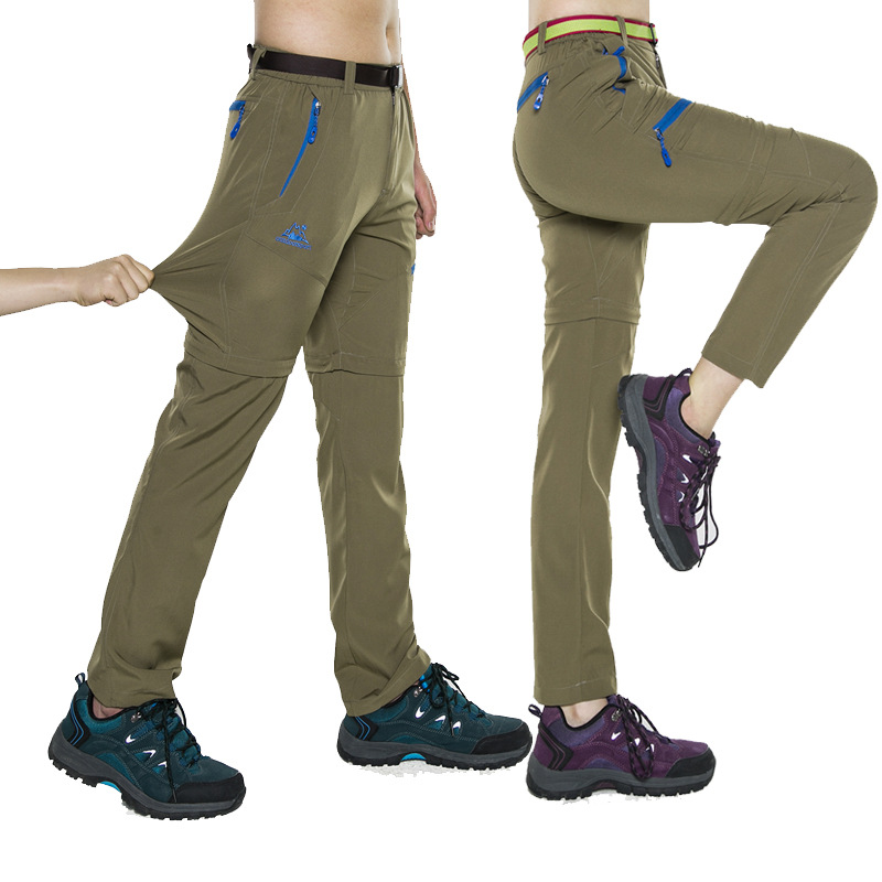 Outdoor Men Women Softshell Hiking Pants Windproof Elastic Pants Trousers Trekking Sports Large Size two pieces Pants(China (Mainland))