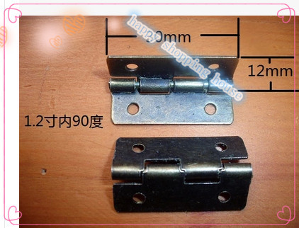 Antique wooden box hinge flat within a 90 degree iron hinge 4 supporting hings hole antique(China (Mainland))