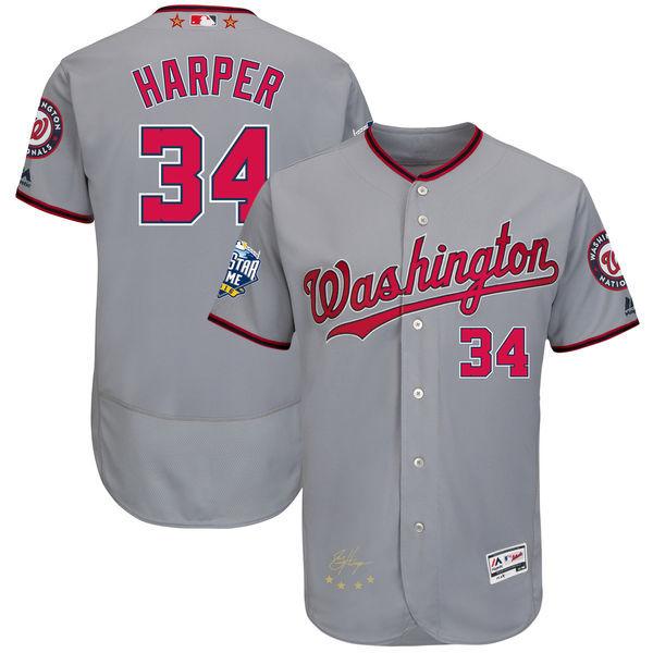2016 MLB All-Star Signature Flex Base Jersey Washington Nationals Bryce Harper Baseball Jerseys(China (Mainland))