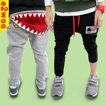 Wholesale Children Big Mouth Trousers Personality Boys Girls Pants Zipper Trousers Baby Kids Sport Leisure pants Long Trousers(China (Mainland))