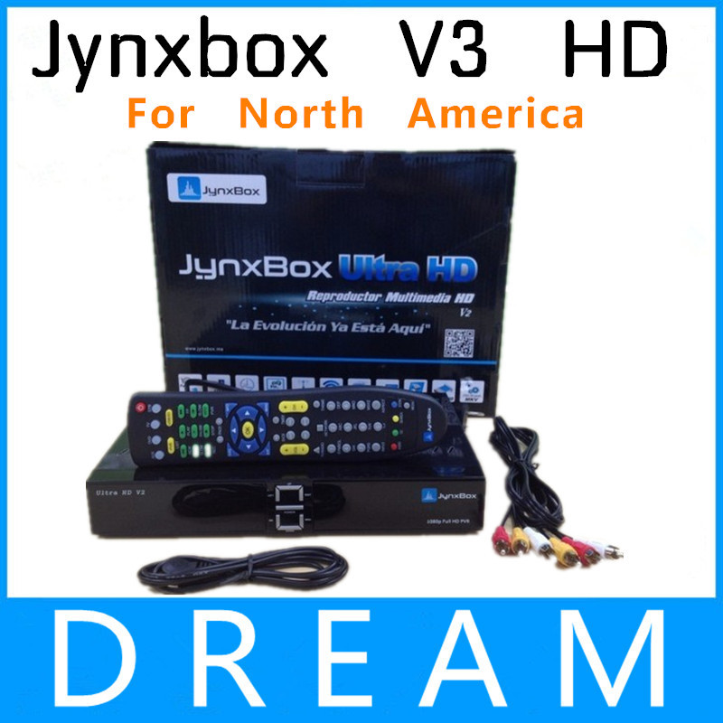 Ultra HD Satellite TV Receiver Jynxbox V3+Free JB200 Module +8PSK+TURBO + Wifi Dongle for North America Support ATSC Tuner(China (Mainland))