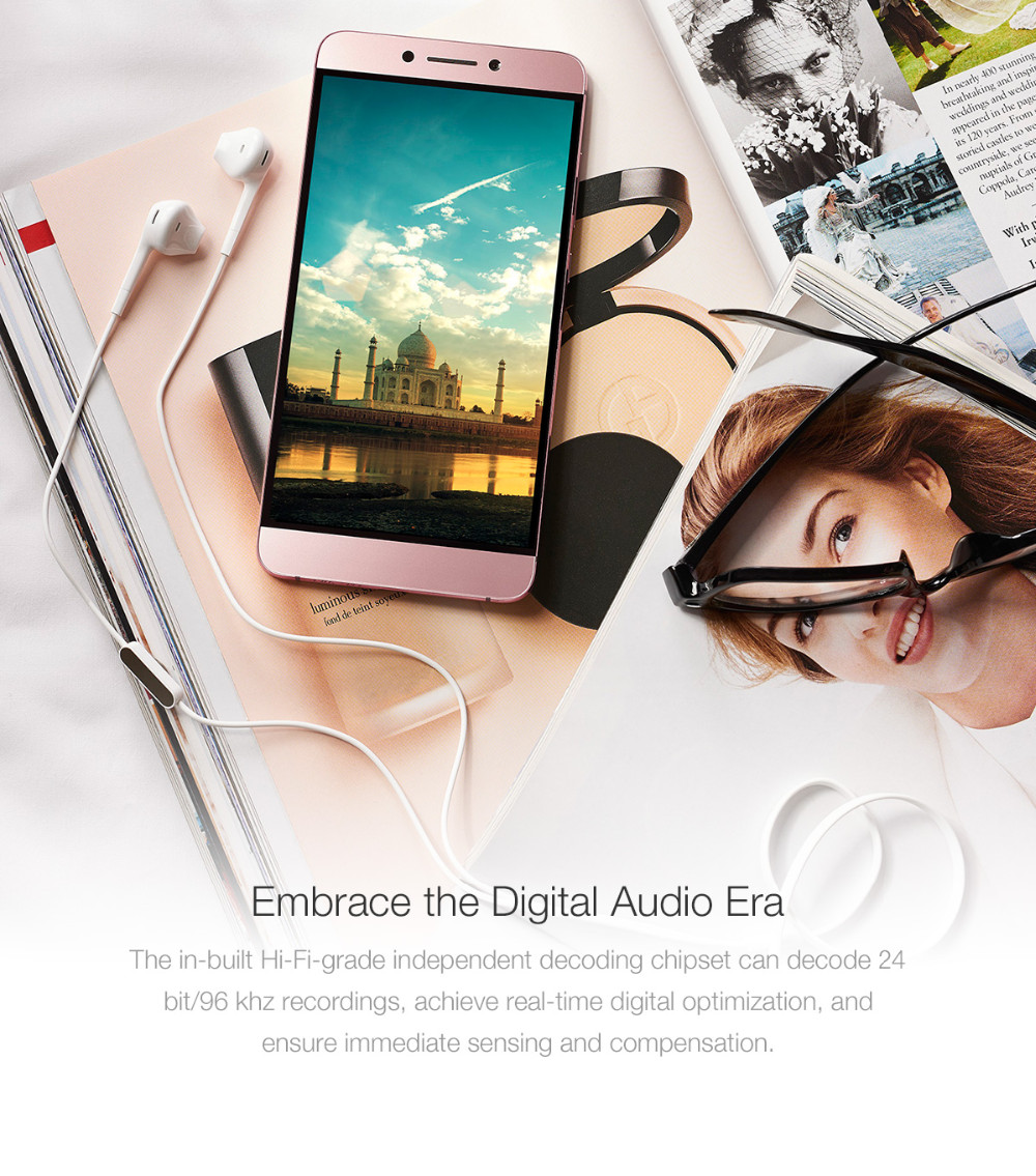 Original Letv CDLA Earphone Letv 2Pro HiFi Chip Inbedded Continual Digital Lossless Audio Type-C Plug Gold Galved Mic Retail Box