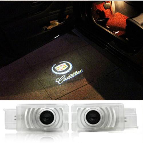 Car Door Light Led Laser ghost shadow light logo projector welcome light emblem badge for Cadillac SRX SLS CTS Escalade BLS ATS(China (Mainland))