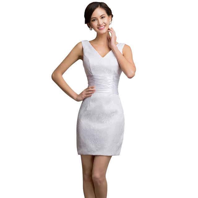 Грейс Карин Белый Краткости Шнурка платье Для Коктейля 2016 Летние Женщины Тонкий ...