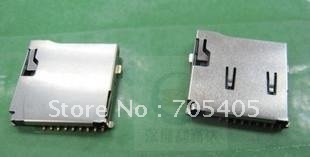 TF Card Socket, Micro SD Memory Card Connector, PUSH,Self-bomb,outside welding type,9P