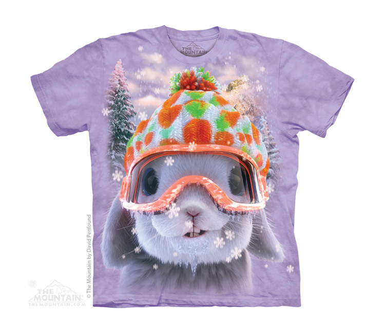 Children boy girl and women 3D t shirt 100% cotton THE *MOUNTAIN SNOW BUNNY kids t-shirt(China (Mainland))