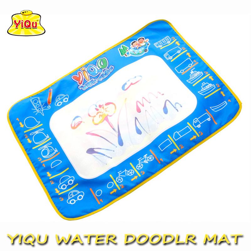 YIQU 50x70cm With 1 Magic Pen/ Drawing Board Water Mat Aqua Doodle Sheet Magic Water Doodle Mat YQ3903(China (Mainland))