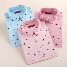 2016 New Fashion Cotton Women Shirts Pattern Shirt Turn-Down Collar Blouses Long Sleeve Floral Shirt Women Fashion Clothing 5XL(China (Mainland))