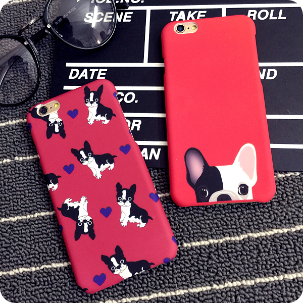 Many dogs pc hard plastic phone cases for iphone 6 6s 6plus 6splus copule twin back cover case free shipping(China (Mainland))
