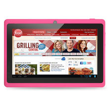 """7"""" Tablet PC Android 4.4 Quad Core Bluetooth WiFi Capacitive Quad Core Cam Pink Tablet PC 1G+16G android Tablet 7 8 9 10 tablet(China (Mainland))"""
