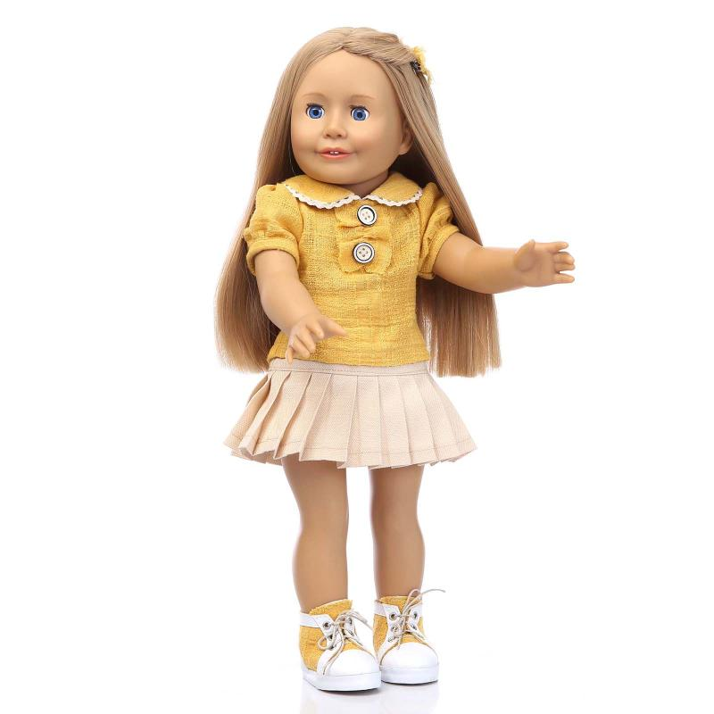 Фотография 45cm American Girl Doll Toy For Girls Lifelike Baby Doll Toddler Girls Paly House/Bedtime/Sleep Toy Early Education Toy