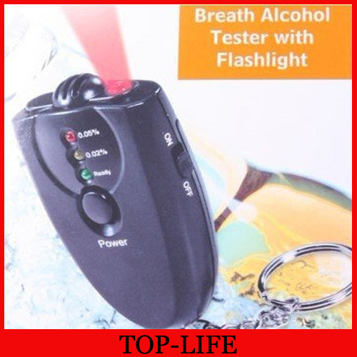 Wholesale - - free Shipping Accurate Breath Alcohol Tester with Flashlight LED light alcohol tester(China (Mainland))