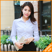 Buy 2017 new arrival fashion cheap clothes china OL commuter slim fold white color conjoined blusas female body shirt #4063 for $19.03 in AliExpress store