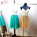 Mint Green A Line Silk Chiffon Bridesmaid Dresses Fast Shipping Wedding Guest Dress Champagne Vestido de