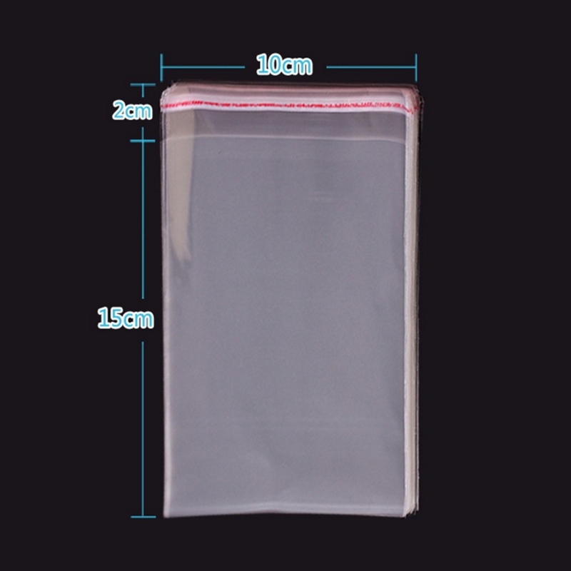 Wholesale Resealable Cellophane/BOPP/Poly Bags 10x15cm Transparent Opp Bag Packing Plastic Bags Self Adhesive Seal Clear Pouches(China (Mainland))
