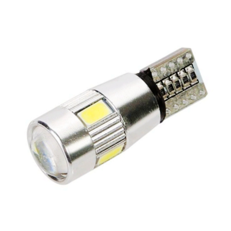 1pcs T10 W5W canbus Wedge Light 6 SMD 5630 5730 LED Bulb High power cree led car parking light NO ERROR auto clearance light 12V(China (Mainland))