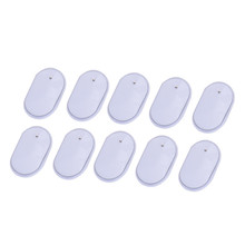 10pcs Silica Gel White Electrode Pads For Digital Tens Therapy Machine Electronic Cervical Vertebra Physiotherapy Massager Tools