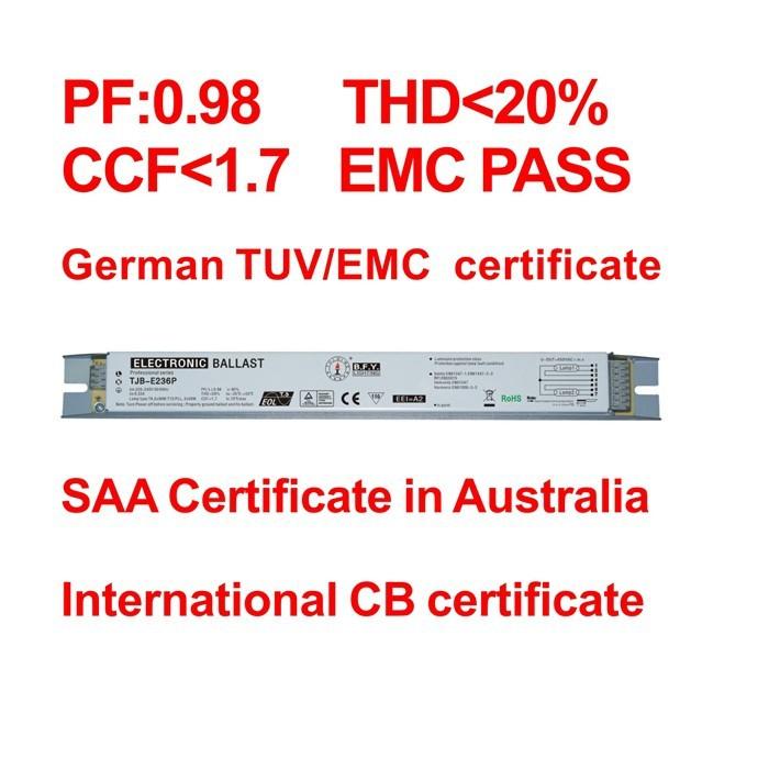 t5 2x28w electronic ballast 28w ballast slim T5 electronic ballast for fluorescent lamp t5 2 x 28W balast balastro 28w(China (Mainland))