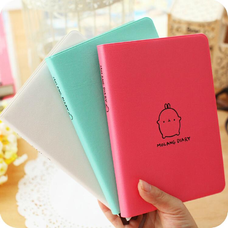 """Molang Rabbit"" 2015 Cute Diary Any Year Planner Pocket Journal Kawaii Notebook Agenda Scheduler Memo 3 Colors Korean Style Gift(China (Mainland))"