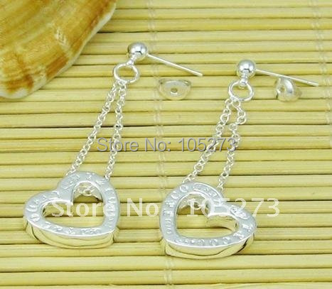 Здесь можно купить  925 Sterling Silver Charm Stud Earrings Silver Jewelry Fashion Girl