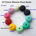 10pcs lot 23mm BPA Free Loose Silicone Chew Beads Food Grade DIY Mommy Necklace baby Teething