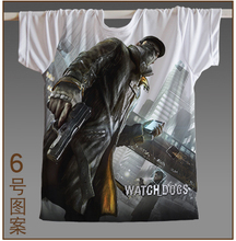 New Watch Dogs Black Skull T-shirt Ubisoft Montreal Game Short Sleeve T Shirt Tees Shirts for Men & Gamers