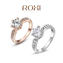 ROXI exquisite rose-gold plated intensive mosaic rings,fashion jewelrys,factory price,Chirstmas gift,high quality,hot