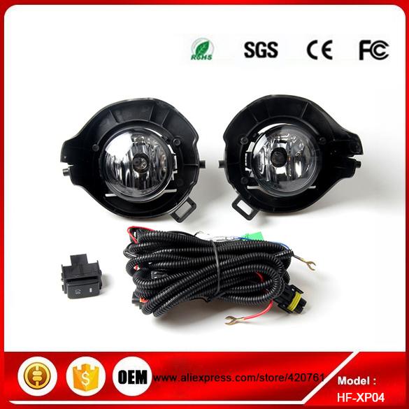 New Full Kit Fog Light for Nissan Xterra Pathfinder Frontier Navara 2004 - 2005 Fog Lamp 12V(China (Mainland))