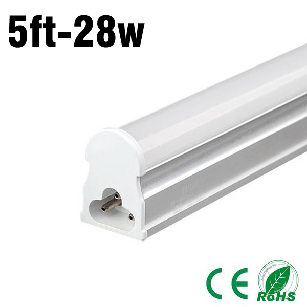 hot sale (5piece) 28w 5ft 3000-3300lm AC 85-265V t5 led tube led bulbs led bulbs 2015 freeshipping top fashion(China (Mainland))