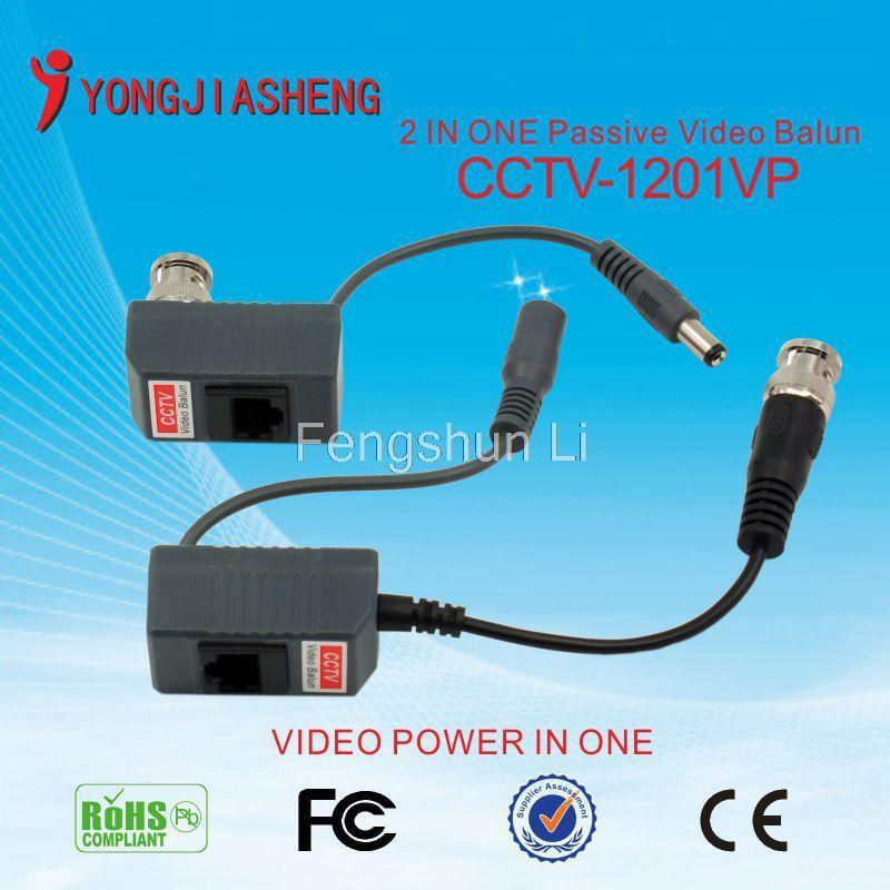 Wholesale New High quality Video Power Balun BNC CCTV Transceiver Cable(China (Mainland))