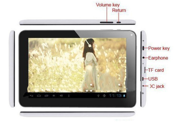 NEW 9 Inch Tablet PC: Allwinner A33, Action ATM7021/ATM7029 Quad core 1.0GHz,Android 4.4 512MB/8G WIFI Dual Cameras OTG(China (Mainland))