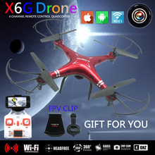 X6G FPV Dron Quadcopter Drone with Camera HD WIFI Toys RC Helicopter Quadrocopter Helicoptero