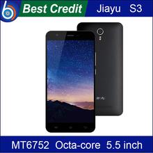 "gift! Original JIAYU S3 FDD LTE 4G MT6752 Octa Core 1.7Ghz 3G RAM 5.5"" Gorilla Glass Mobile phone Android 4.4/Kate(China (Mainland))"