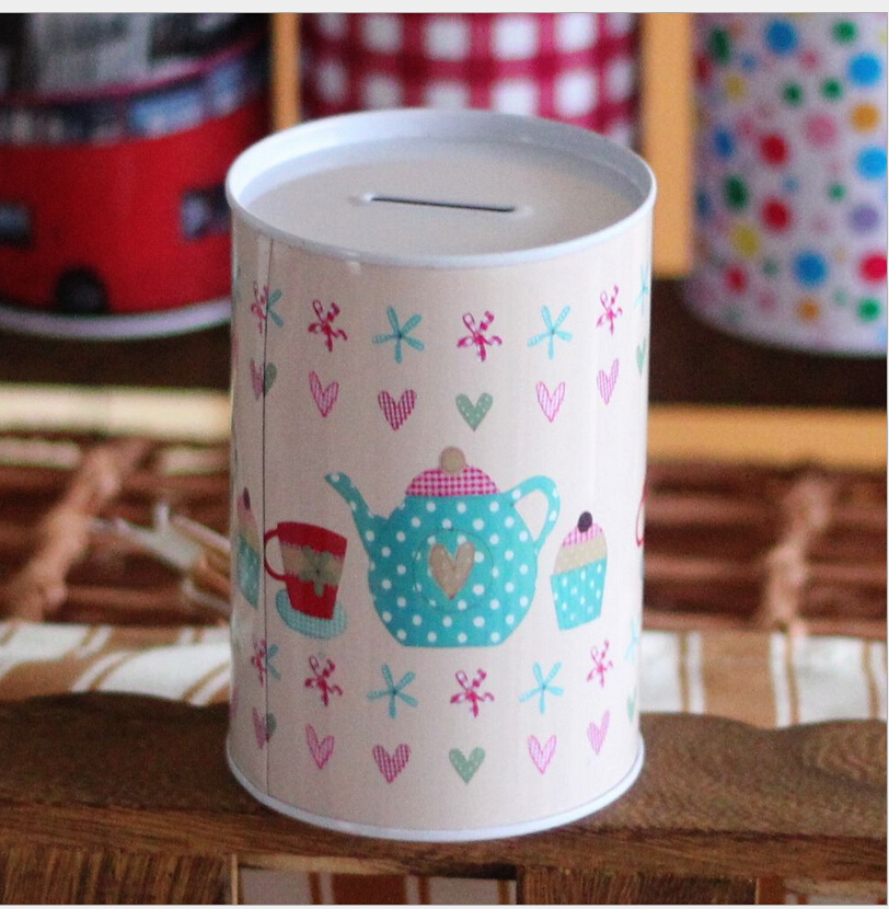New hot sale home decoration vintage pairs piggy bank tin for How to open a tin piggy bank