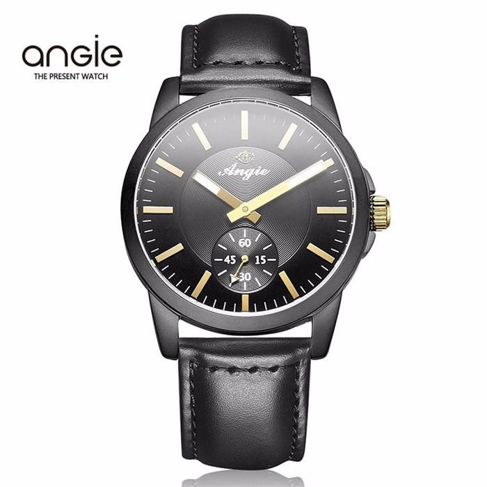 Энджи Бренд Часы Моды для Мужчин Кварцевые Часы Женщины Роскошный Бизнес Подлинная Наручные Часы Кожаный Ремешок