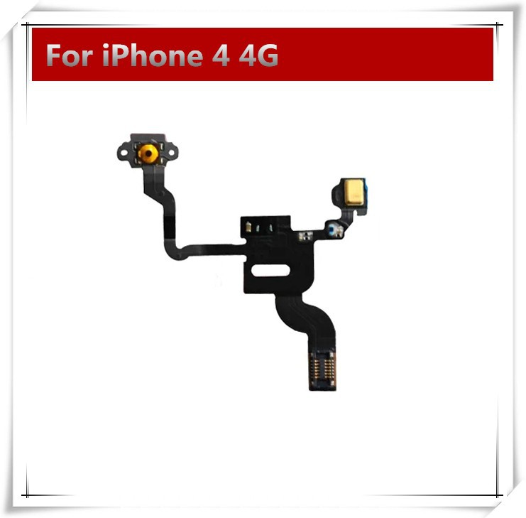 10pcs/lot High Quality Power Button Flex Cable Ribbon Light Sensor Power Switch On / Off Replacement for iPhone 4 4G(China (Mainland))