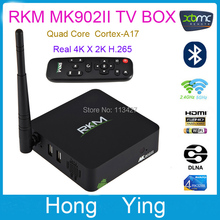 RKM MK902II 2G / 8GAndroid 4.4 Quad Core RK3288 4k*2k TV BOX W/ Bluetooth +Dual Band Wifi RJ45 + External Antenna DLAN TV Stick